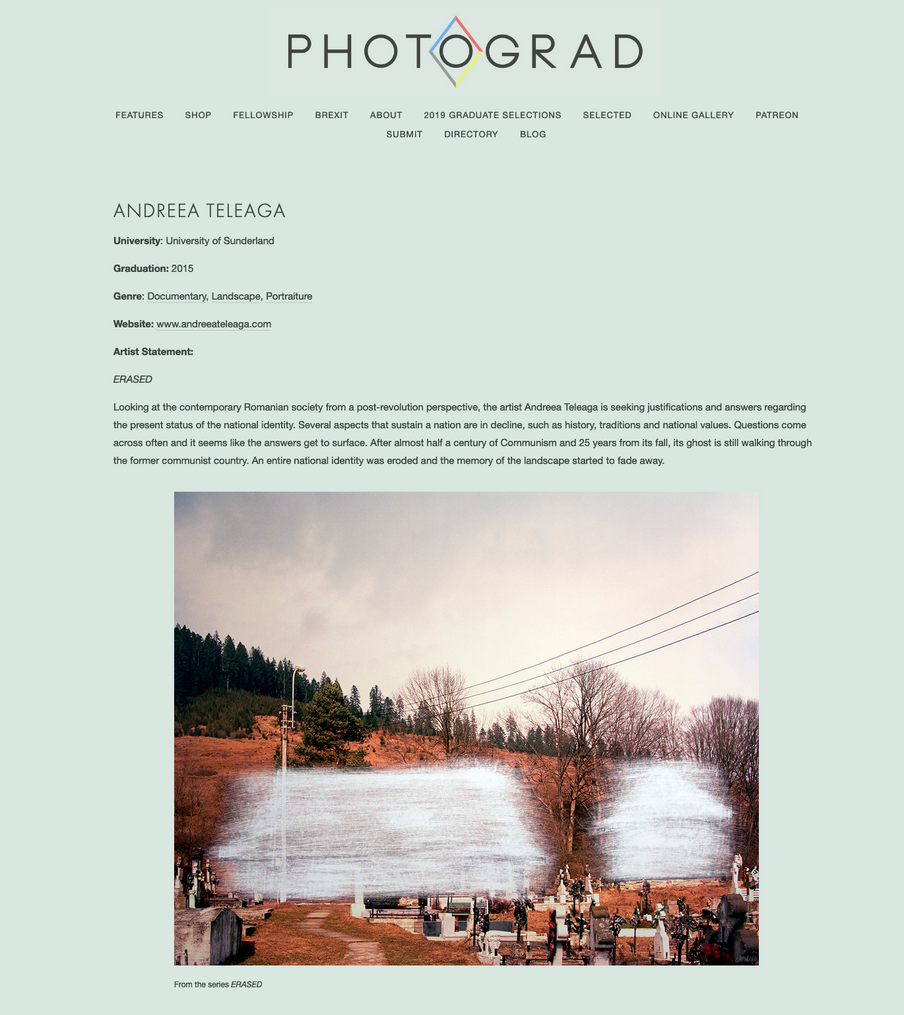 PHOTOGRAD feature, 2016