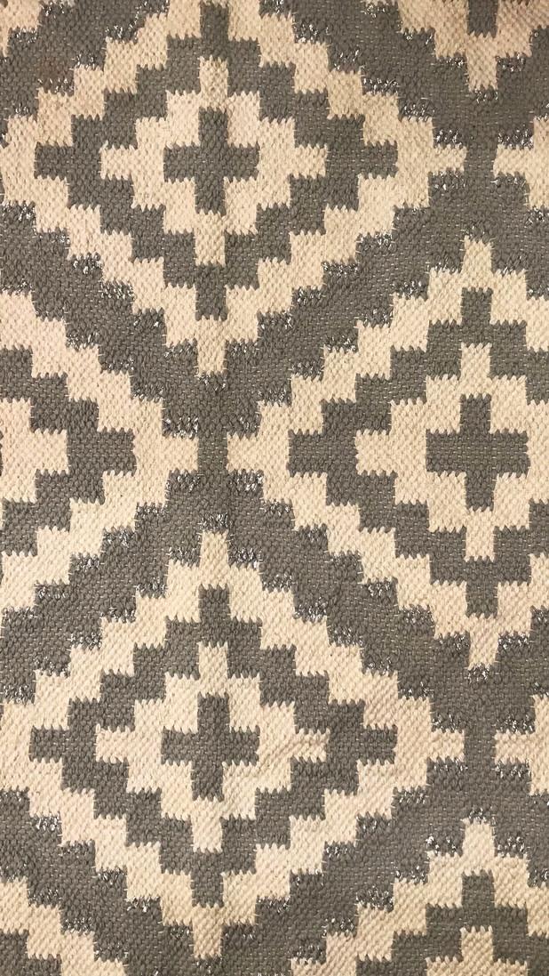 Brown & Beige Hand Loom Handwoven Rug By Rugs.Usv