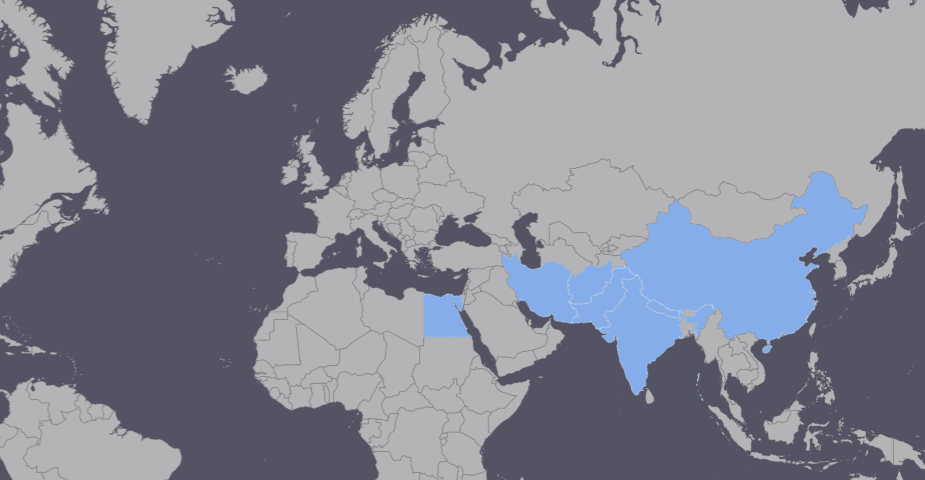 Countries producing Oriental Rugs: China, India, Egypt, Pakistan, Iran, Nepal and Afghanistan