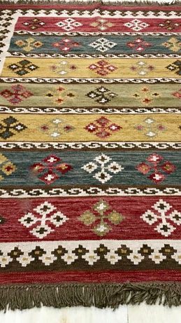 Traditional Design Fusion Handmade Handwoven Flatweave Rug By Rugs.Usv