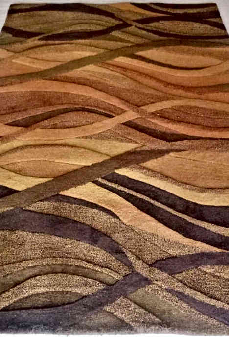 Hand-Tufted Rug Brown Rug By Rugs.Usv
