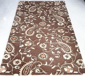 Floral motif handmade rug by Rugsusv India