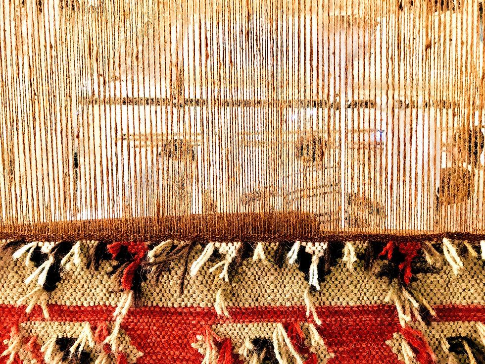 Panjaloom Kilim rug weaving handmade rug India