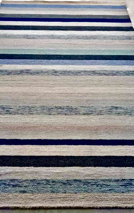 Dark Denim Hand-Tufted Rug By Rugs.Usv