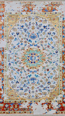 Light Blue Hand-Knotted Rug By Rugs.Usv