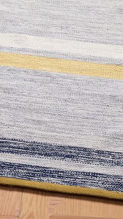 Hand-Loom Handwoven Blue Denim Rug By Rugs.Usv