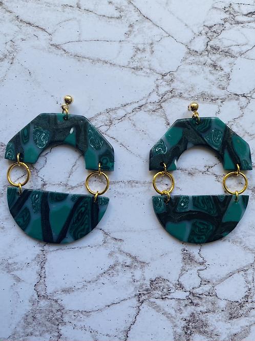 Smaragd Hexagon&Circle