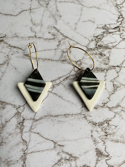 Black Marble - Triangle small