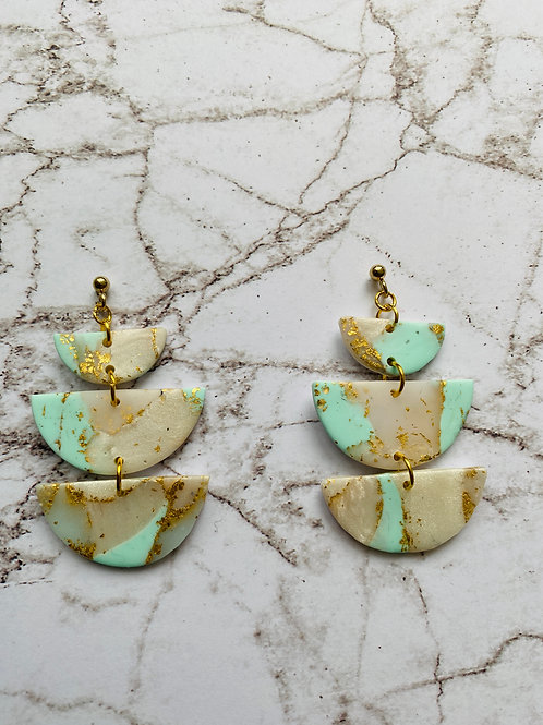 copy of Gem turquoise circle and triangle
