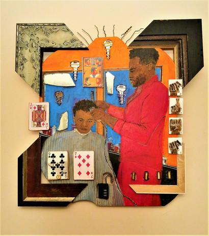 Barber Shop #25 Prep 23 x 23.5    inches