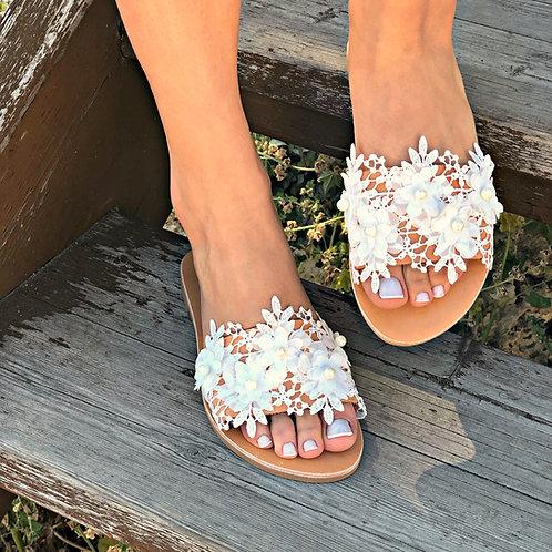 Almond Bloom | Flat Sandal
