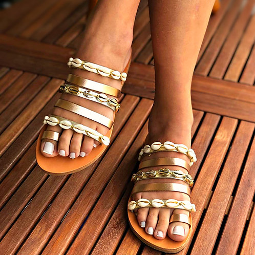 Sea Shell | Toe Ring Slides