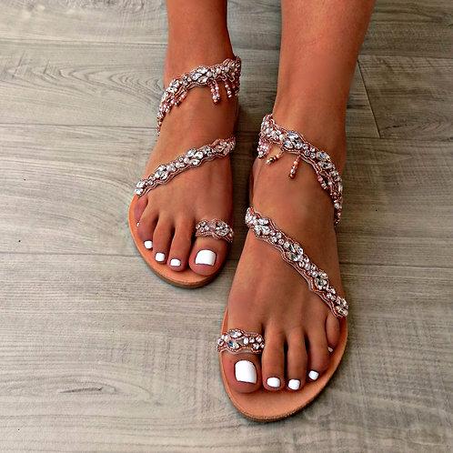 Bijou Crystal Pink | Stappy Sandal