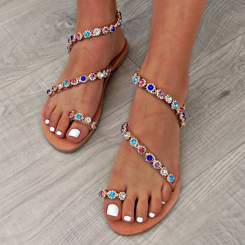 copy of Bijou Crystal Pink | Stappy Sandal
