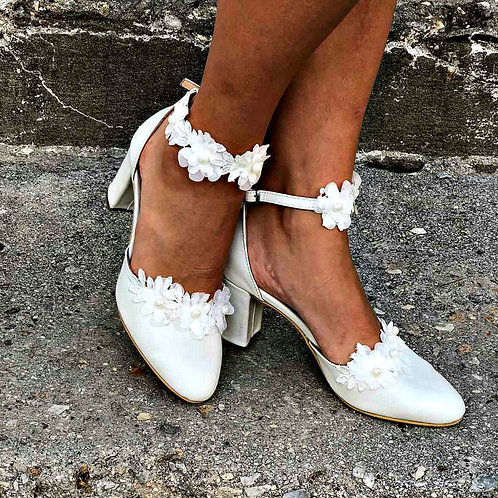 Belize-Floral Ankle Strap