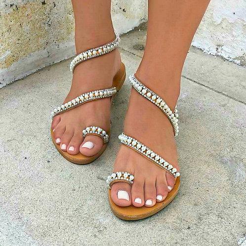 Silver Swan | Wrapped Sandal