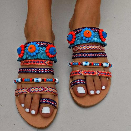 Allegra| Strappy Flat Sandal