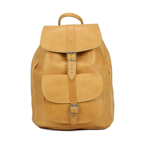 Athens | Women Men | Leather Backpack