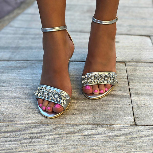 Garan   Embellished Open Toe Heel