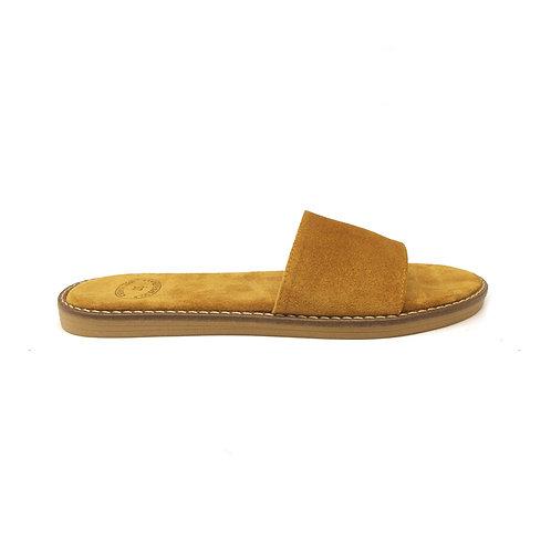 Tobacco | Flat Sandal