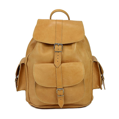Artemida | Women Men | Leather Backpack