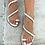 Thumbnail: Silver Swan | White Wrapped Sandal