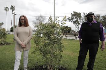 Rachel Paryne and LeRoy West, The Tree Pledge, Alondra Community Regional Park.