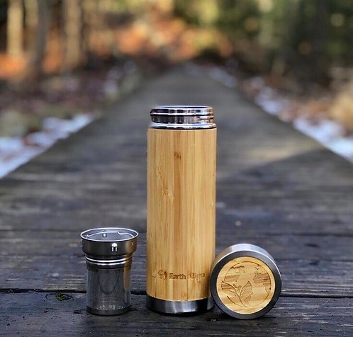 Bamboo and Stainless Steel Tumbler w/ Tea Infuser