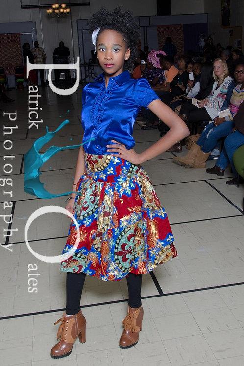 "2 piece ""Chitenge"" skirt and head wrap/hea"