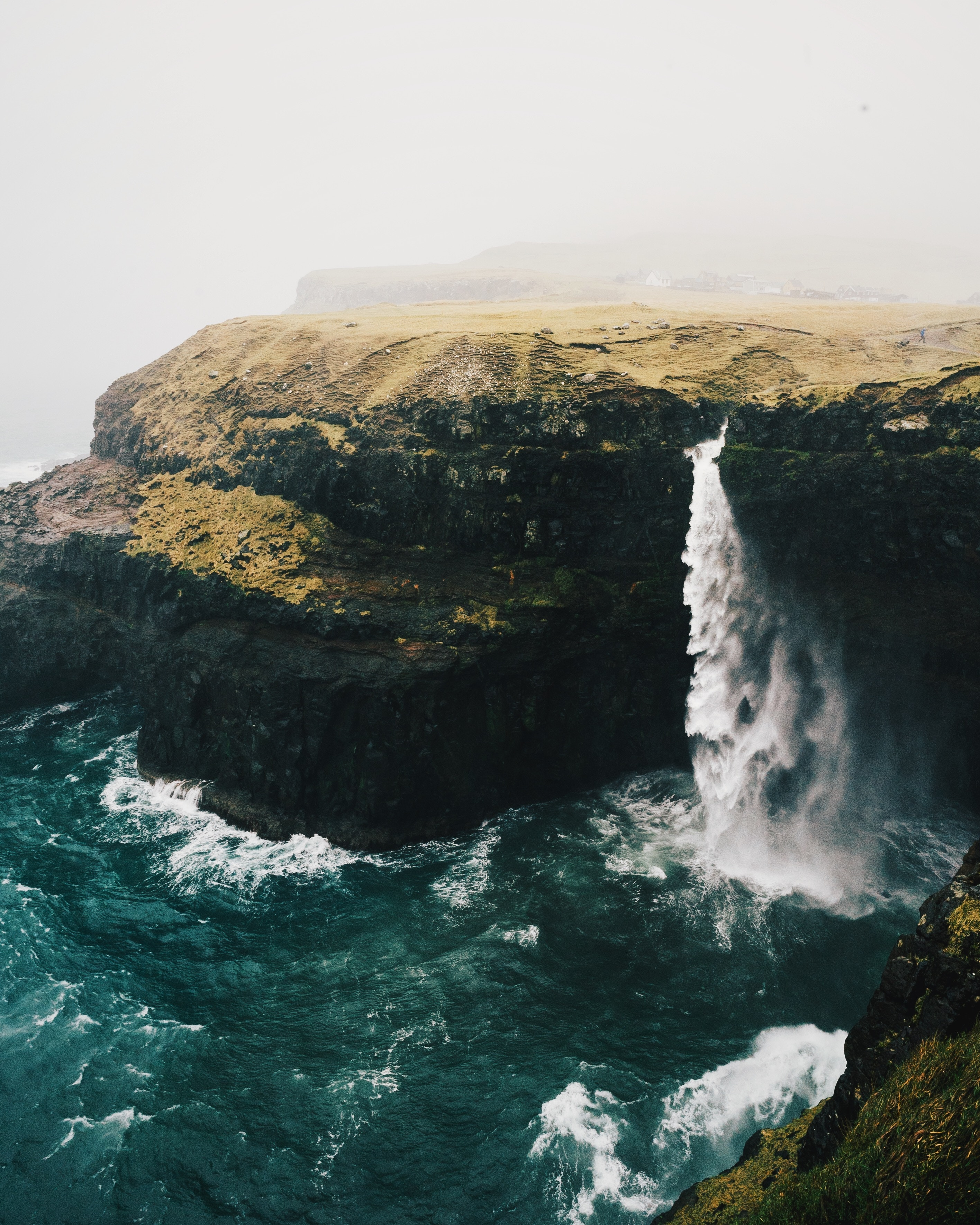 Faroe Island waterfall