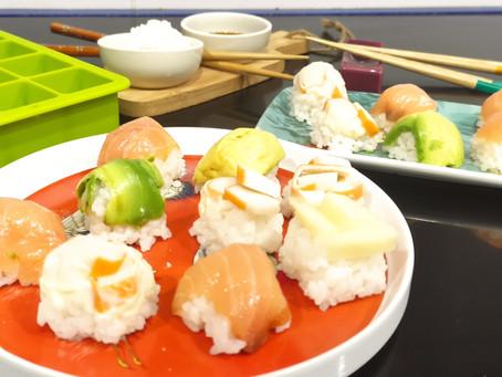 Sushi fácil en Cubitera (Para principiantes) Cocinafacilita
