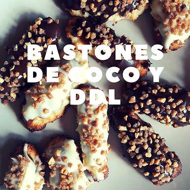Bastones de coco y Dulce de leche CocinaFacilita