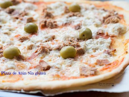 Pizza de Atún #singluten CocinaFacilita
