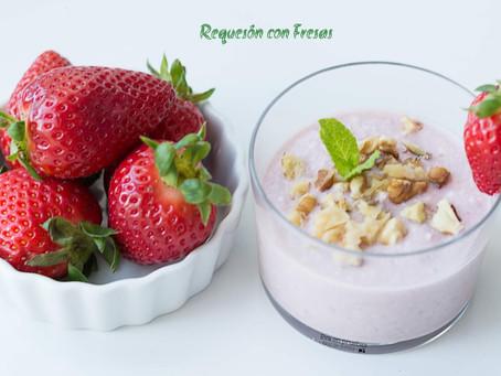 Requesón con fresas ¡fácil y fresquito!