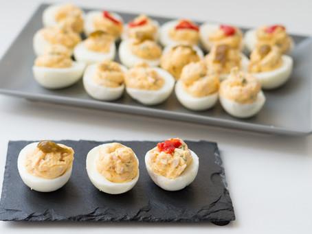 Huevos rellenos con fiambre