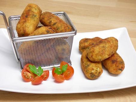 Receta de Croquetas faciles de pollo y espinacas