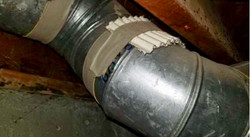 Amiante sur conduit de ventilation