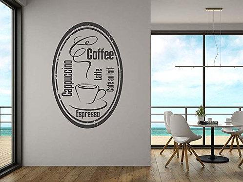 "Adesivo murale""coffee"" 40x60cm Adesivo4You.com"