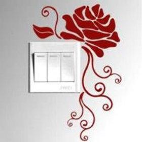 Adesivo murale Rosa per interruttore wall sticker.