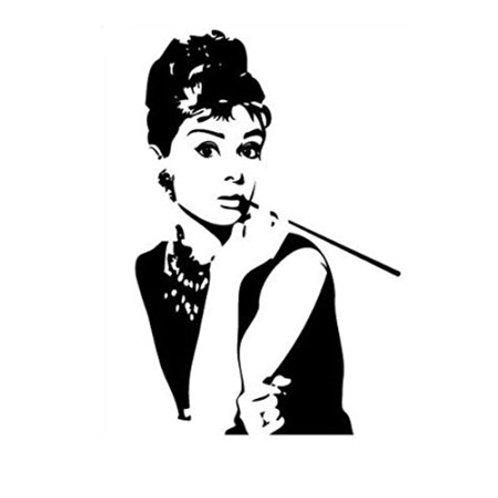 Adesivo murale Audrey Hepburn