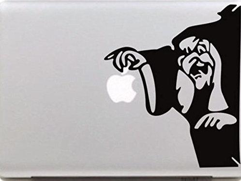 "Adesivo di ""Strega"" in vinile per Apple Mac Macbook"