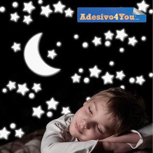 """Adesivo luminoso """"stelle grandi""""125 pz."""
