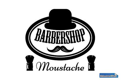 "Adesivo murale ""moustache-barbershop""50x44cm"