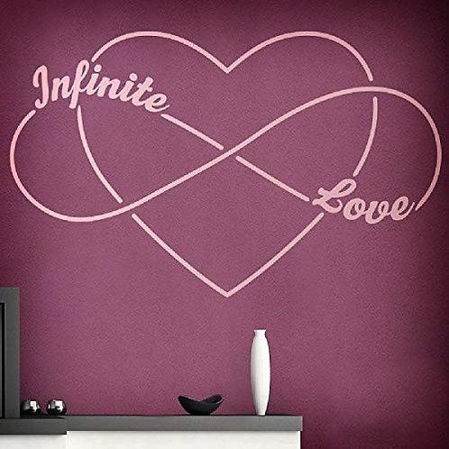 "Adesivo murale""infinito love"" 100x50"