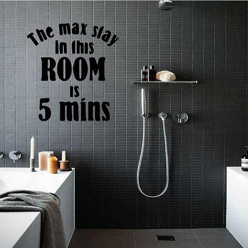 Adesivo murale per bagno con citazione, wall sticker.