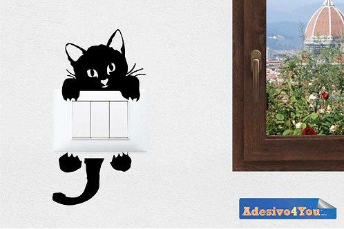 """Adesivo per gli interruttori con""""gatti misti"""" set da 6 pezzi Adesivo4You.com"""
