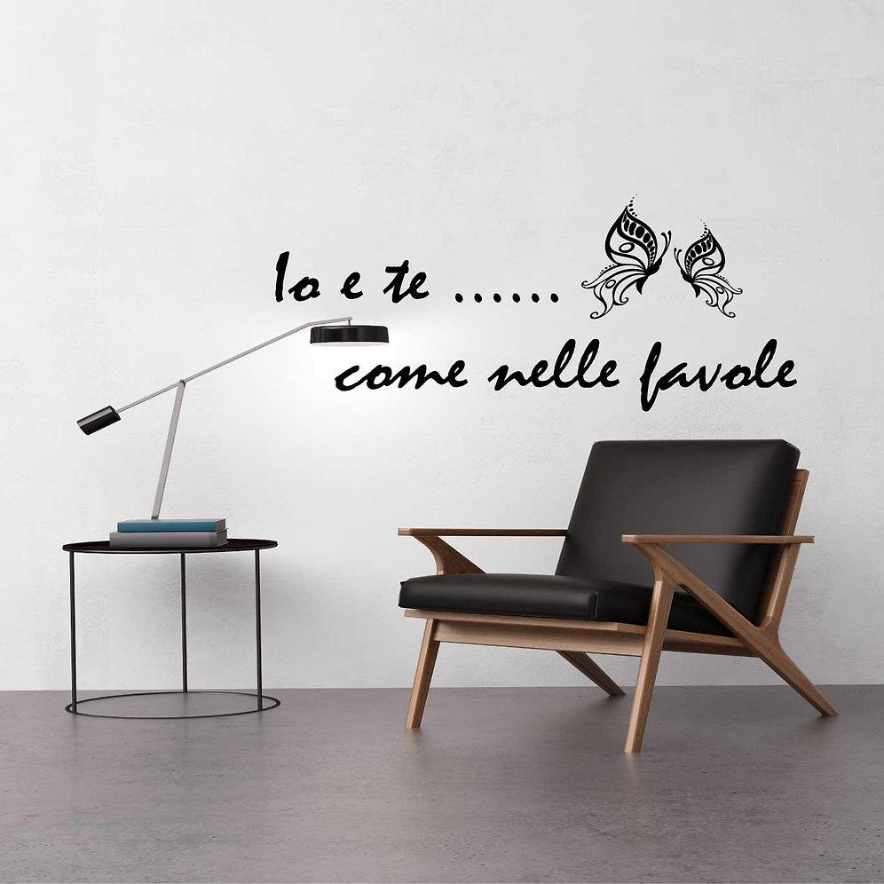 Adesivi Murali Vasco Rossi.Adesivo Murale Io E Te Come Nelle Favole Canzone Vasco Rossi