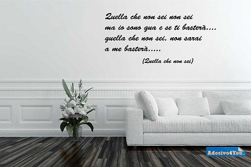 """Luciano Ligabue """"Quella che non sei"""" Wall Stickers Ad"""