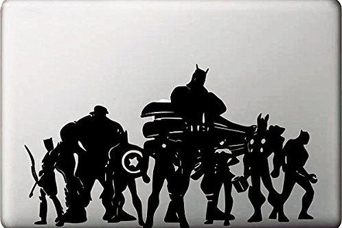"Adesivo di ""The Avengers"" in vinile per Apple Mac Macbook"