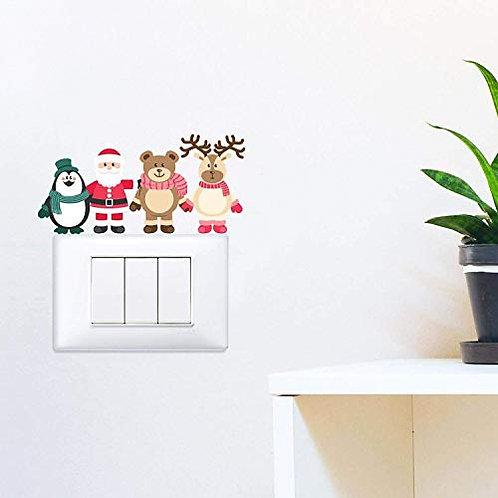 Adesivo murale natalizio 12x15cm Adesivo4you